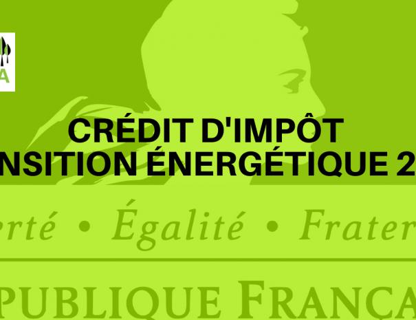 Crédit impôt transition énergétique 2020
